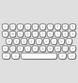 Keyboard keys vector image