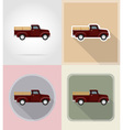 old retro transport flat icons 09 vector image