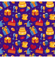 seamless pattern with party icons and signs vector image