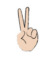 sign of victory gesture of the hand vector image