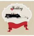 Vintage wedding background vector image