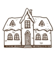 Winter cute house vector image