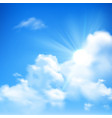 Sun And Clouds Background vector image