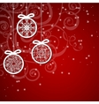 Christmas background with ornaments balls vector image