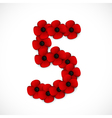 poppies number five vector image