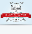Merry Christmas Card Retro Xmas Greeting Banner on vector image vector image