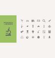 twenty five science icons set vector image