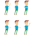 Standing man with various poses vector image