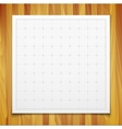 White isolated square grid with shadow isolated on vector image vector image