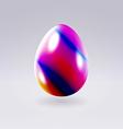 Easter modern colorful egg vector image