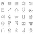 Hobby line icons with reflect on white vector image