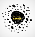 Abstract black scribble dots circle frame banner vector image