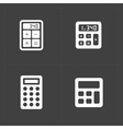 calculator icons set vector image