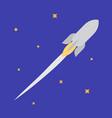 jet rocket in open space vector image