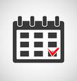 Logo calendar with a check mark vector image