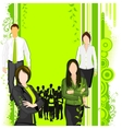 People supporting Eco friendly concept vector image