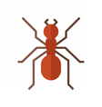 Red Ant Icon vector image