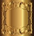 Royal Vintage Frame Gold Background vector image
