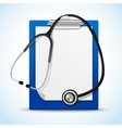 Stethoscope and notes vector image