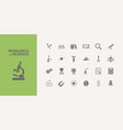 twenty five science icons set vector image