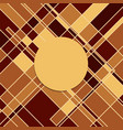 yellow dark squares with circle abstract vector image