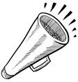Doodle megaphone cone loud vector image