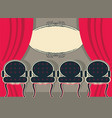 theater interior with red curtains and chairs vector image