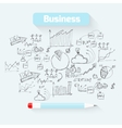 Sketch business background vector image
