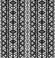 Black and white ethnic motifs background in doodle vector image vector image