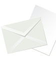 letter envelope and white paper vector image