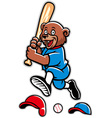 baseball bear mascot vector image