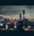 city in the evening blurring background - vector image
