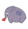 elephant carrying heart vector image