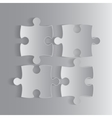 Four Grey Piece Puzzle Round Infographic 4 Step vector image