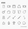 kitchen equipment and tableware vector image