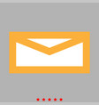 mail icon flat style vector image