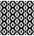 Seamless black and white indian pattern vector image