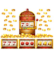 Slot machine and golden coins vector image
