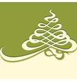calligraphy Christmas tree vector image vector image