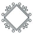 icon label resturant design vector image