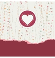 Heart frame Valentine card EPS 8 vector image vector image