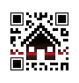 Isolated qr code and house design vector image