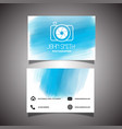 photographer business card vector image vector image