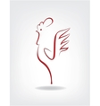 stylized cock on the gray background vector image