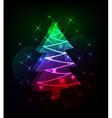 neon christmas tree vector image