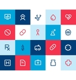Medical and healthcare icons Flat vector image vector image