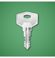 Steel key vector image