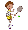 A tennis player vector image