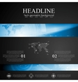 Brochure tech template with blue banner elements vector image