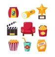 Movie Theatre Related Objects Collection vector image